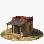 House with Canopy 3d model