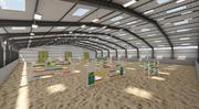 Horse Jumping Area 3d model