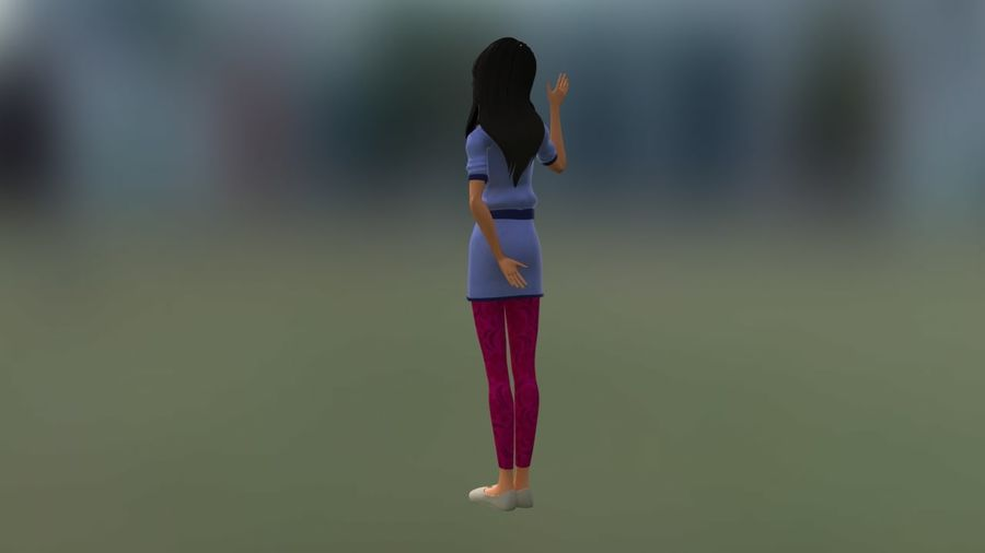 Girl character royalty-free 3d model - Preview no. 4