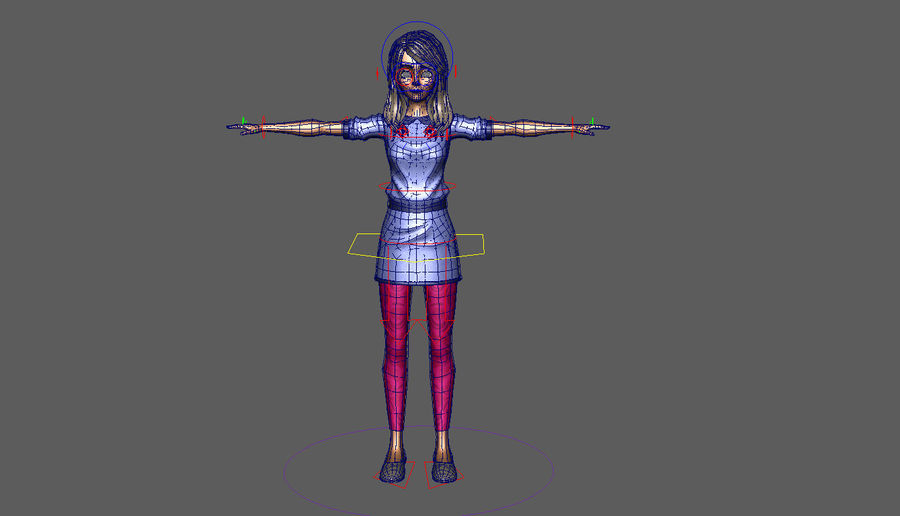 Girl character royalty-free 3d model - Preview no. 9