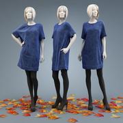 Dress free cut 3d model