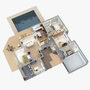 Plan piętra 3D Scena 5sl 3d model