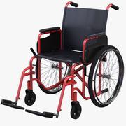 Silla de ruedas roja modelo 3d