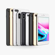 Apple iPhone X、8、8 +すべての色 3d model