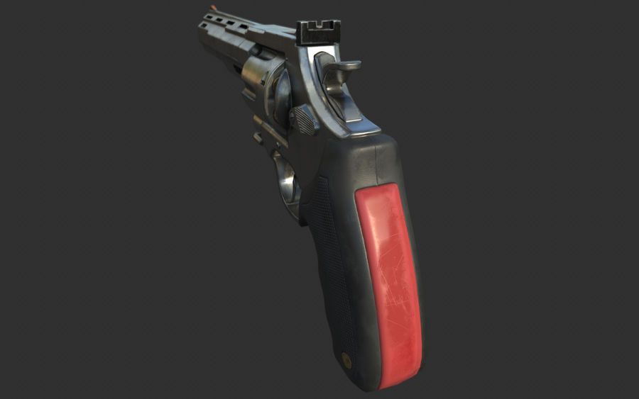 revolver royalty-free 3d model - Preview no. 11