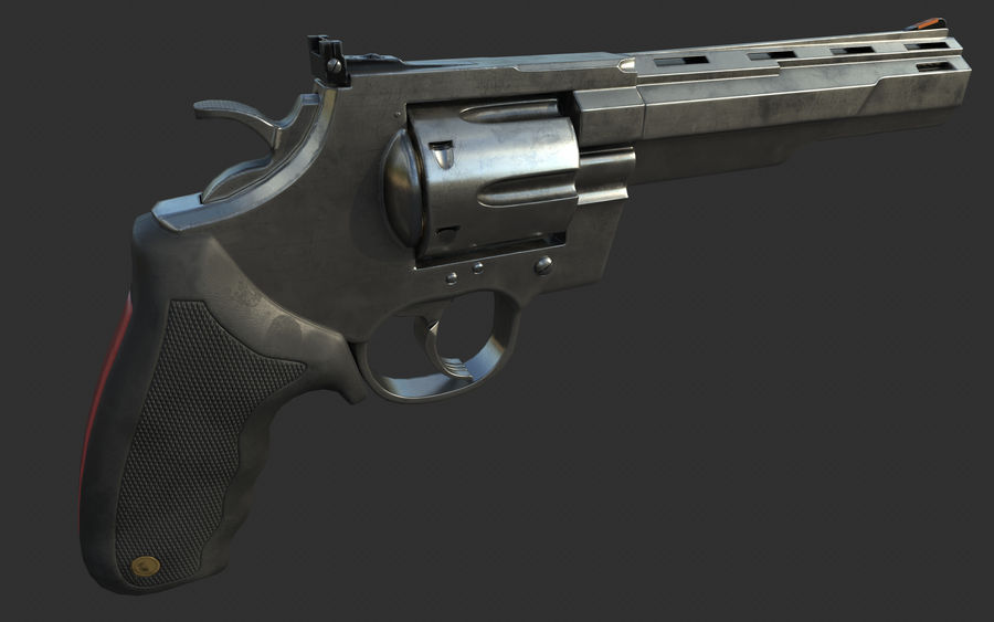 revolver royalty-free 3d model - Preview no. 9