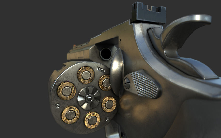 revolver royalty-free 3d model - Preview no. 7