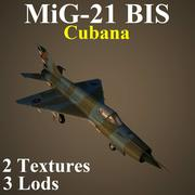 미그 21 비스 쿠바 3d model