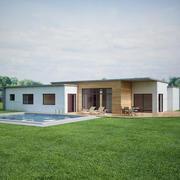 Современная сцена дома 3d model