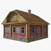 被遗弃的木房子4 3d model