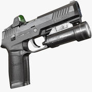 SIG Sauer P320 AAA Game Weapon 3d model