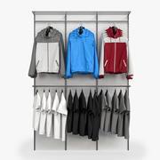 Stå med kläder 3d model