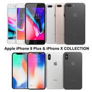 Apple iPhone 8 Plus & iPhone X Collection 3d model
