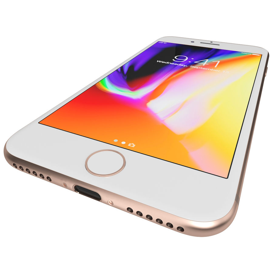 Apple iPhone 8&iPhone Xコレクション royalty-free 3d model - Preview no. 29