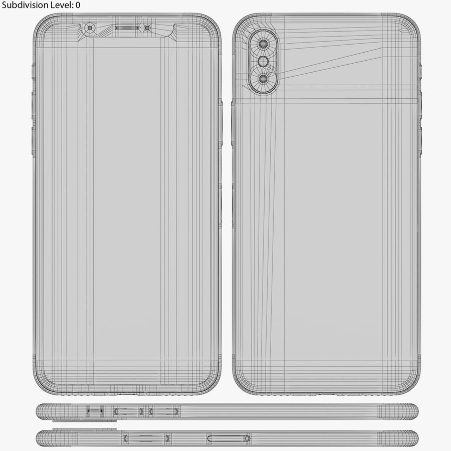 Apple iPhone 8&iPhone Xコレクション royalty-free 3d model - Preview no. 94