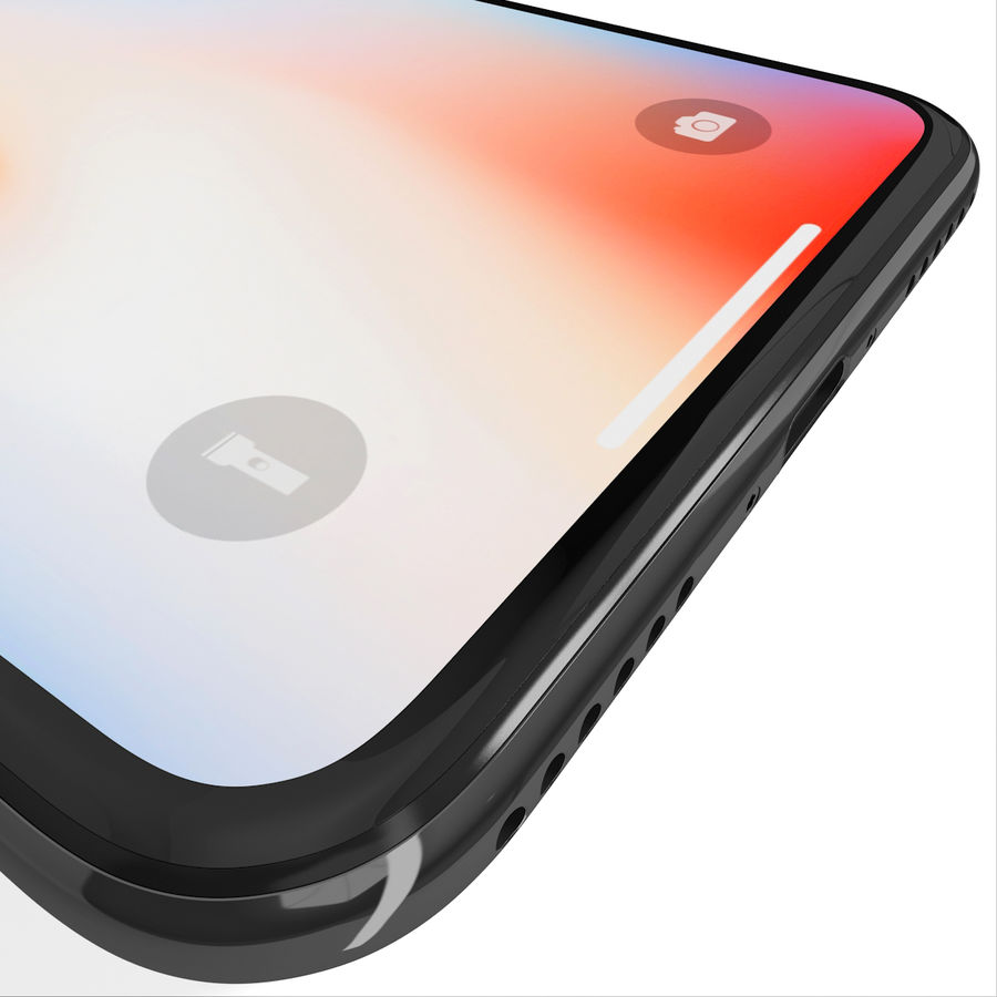 Apple iPhone 8&iPhone Xコレクション royalty-free 3d model - Preview no. 75