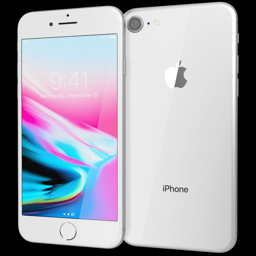 Apple iPhone 8&iPhone Xコレクション royalty-free 3d model - Preview no. 35