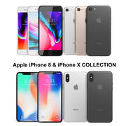 Apple iPhone 8 & iPhone X Collection 3d model