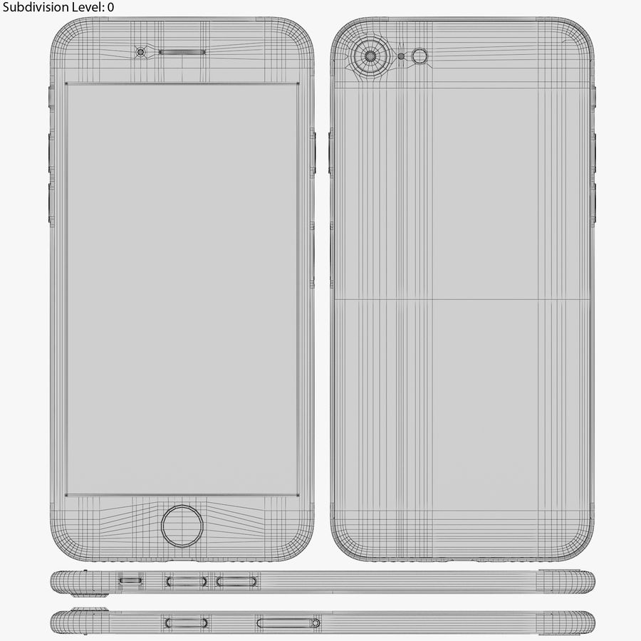 Apple iPhone 8&iPhone Xコレクション royalty-free 3d model - Preview no. 52
