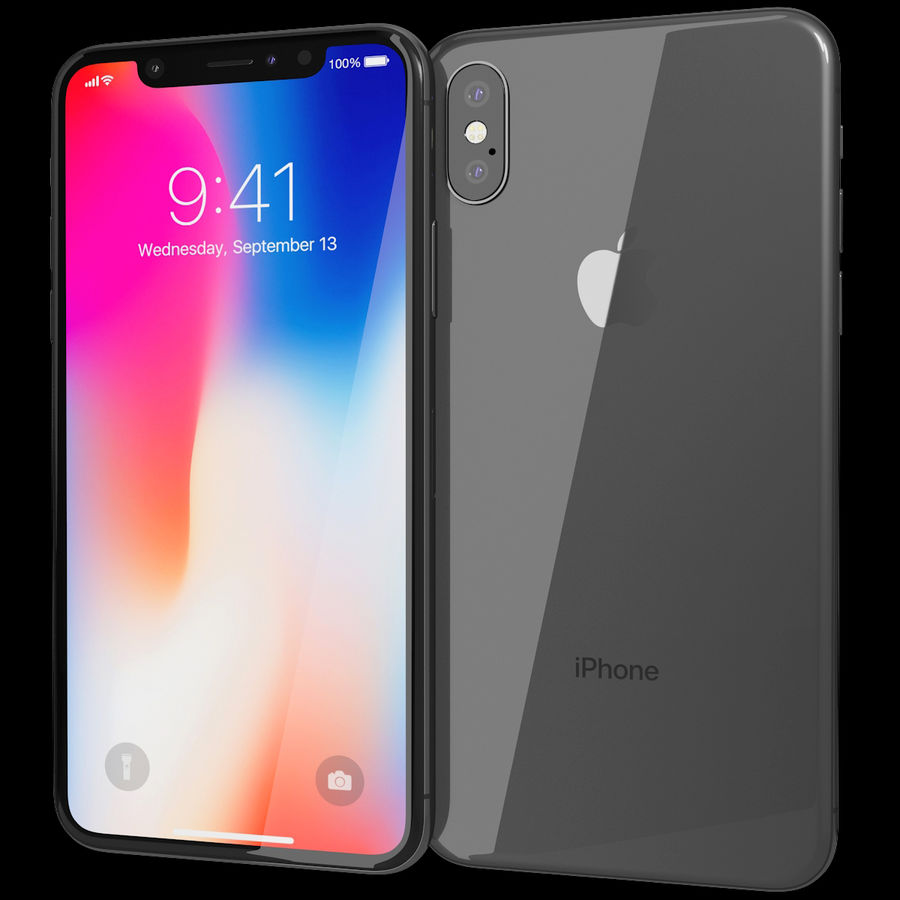 Apple iPhone 8&iPhone Xコレクション royalty-free 3d model - Preview no. 61