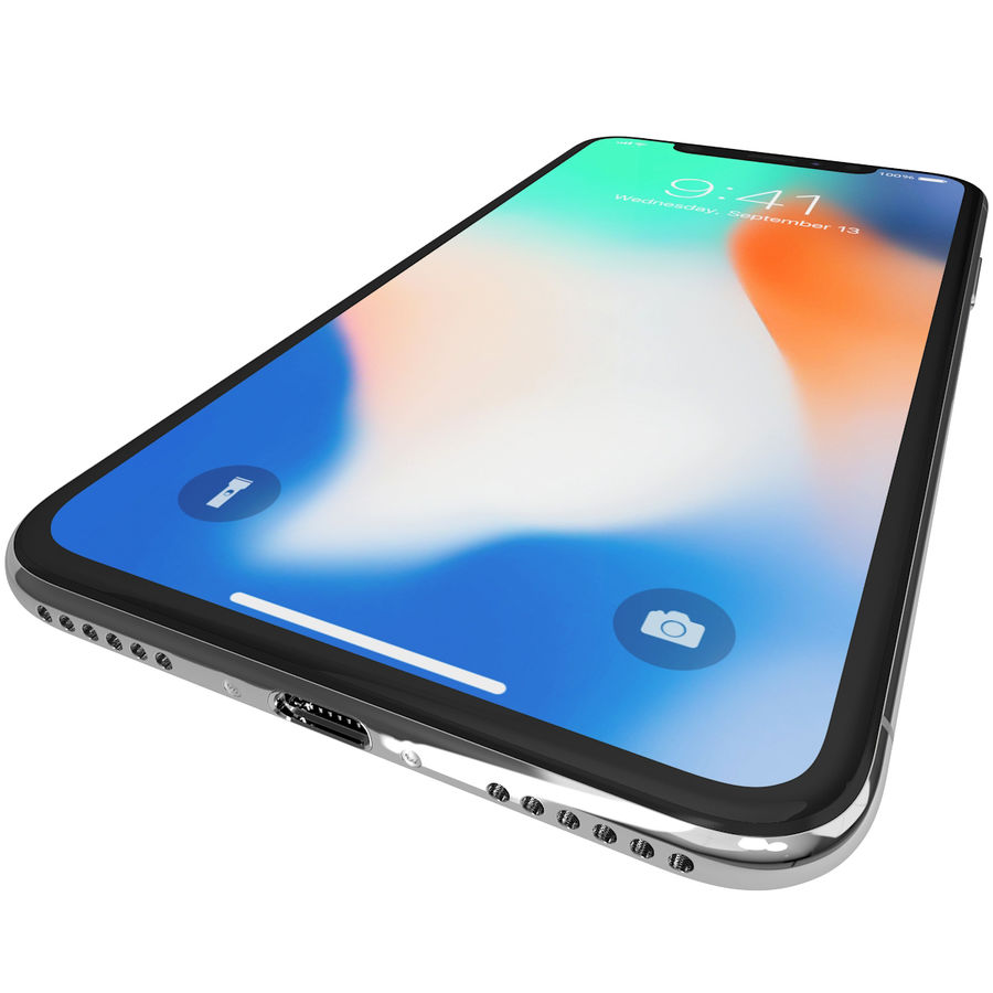 Apple iPhone 8&iPhone Xコレクション royalty-free 3d model - Preview no. 76