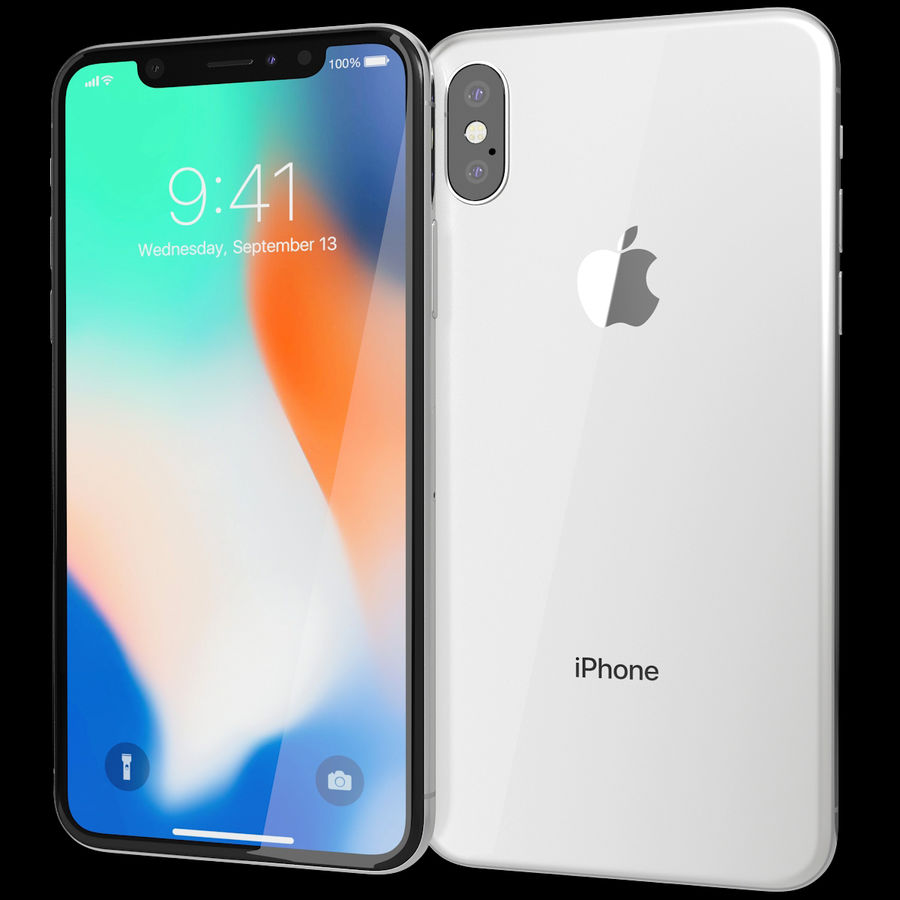 Apple iPhone 8&iPhone Xコレクション royalty-free 3d model - Preview no. 83