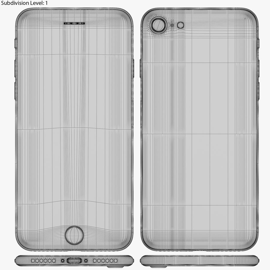 Apple iPhone 8&iPhone Xコレクション royalty-free 3d model - Preview no. 51