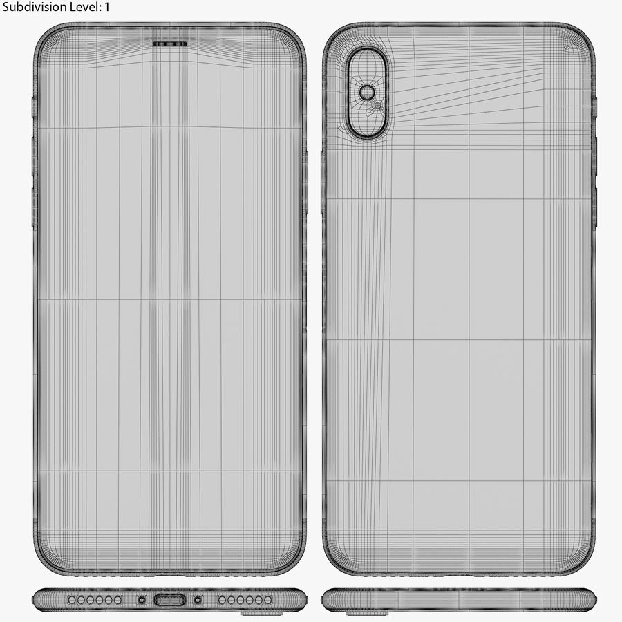 Apple iPhone 8&iPhone Xコレクション royalty-free 3d model - Preview no. 93