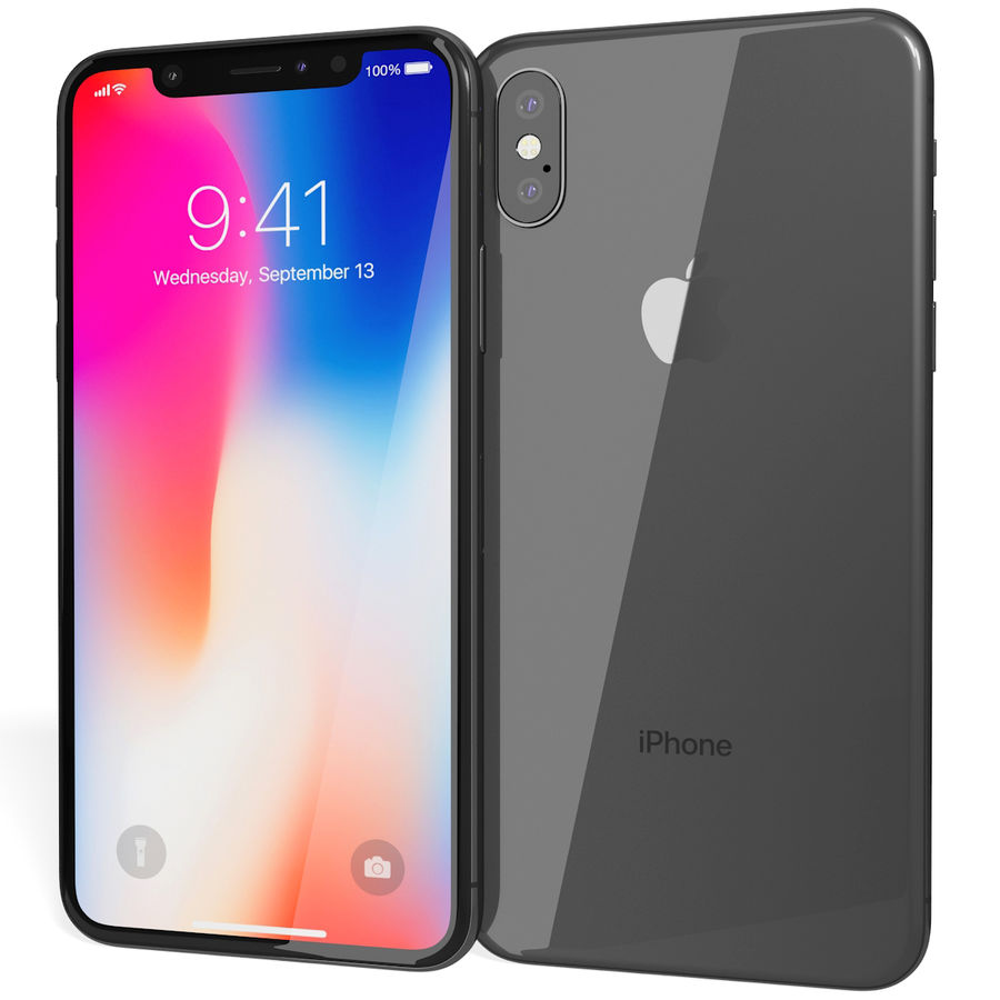 Apple iPhone 8&iPhone Xコレクション royalty-free 3d model - Preview no. 62