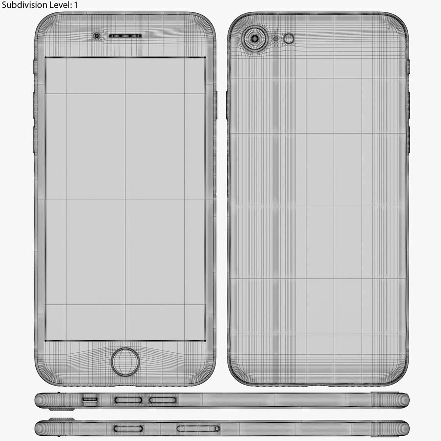 Apple iPhone 8&iPhone Xコレクション royalty-free 3d model - Preview no. 53