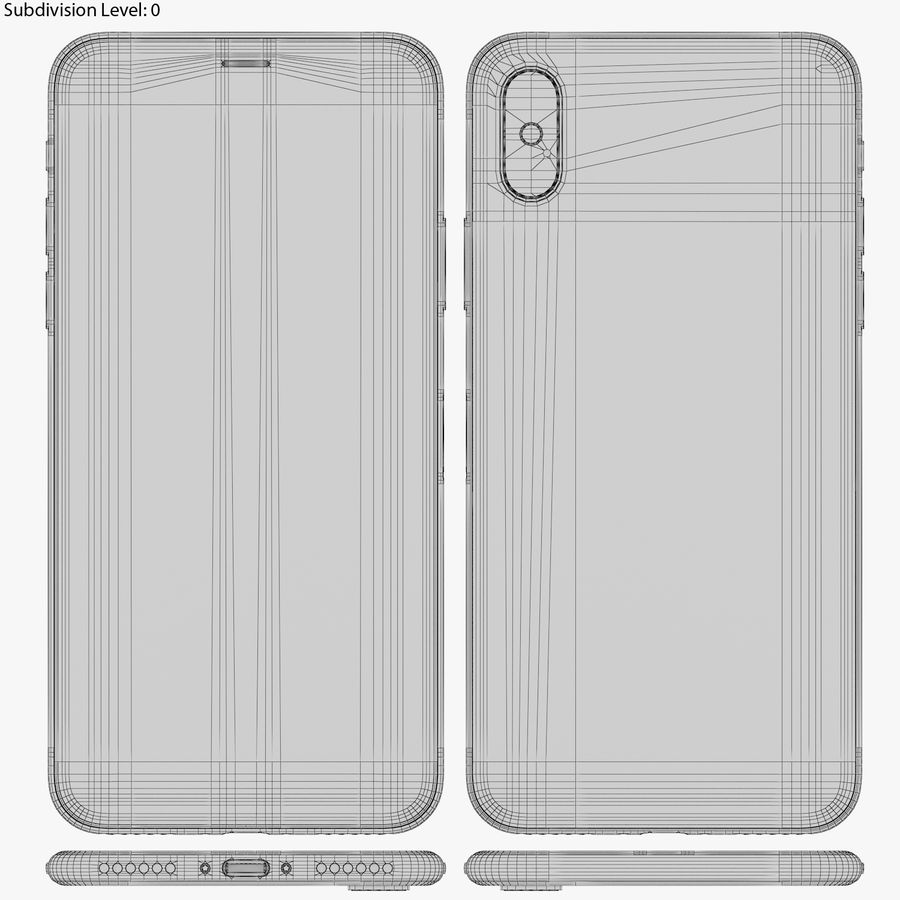 Apple iPhone 8&iPhone Xコレクション royalty-free 3d model - Preview no. 92