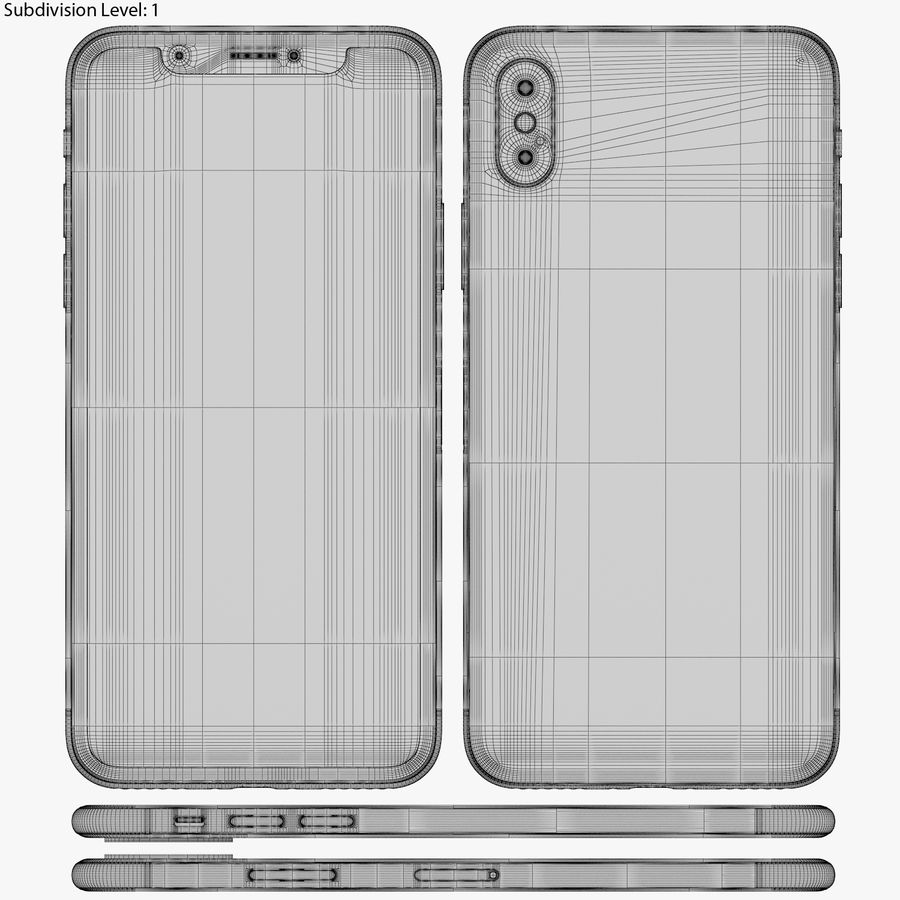 Apple iPhone 8&iPhone Xコレクション royalty-free 3d model - Preview no. 95