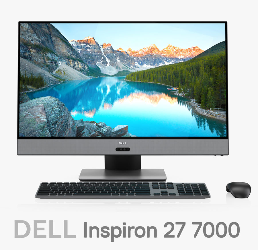 Dell Inspiron 27 7000 All-in-One-Set royalty-free 3d model - Preview no. 1