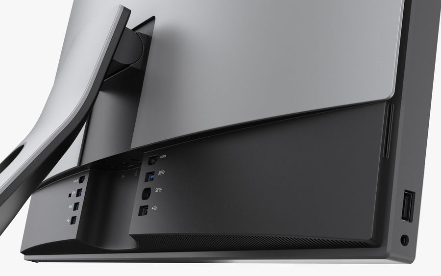 Dell Inspiron 27 7000 All-in-One-Set royalty-free 3d model - Preview no. 11