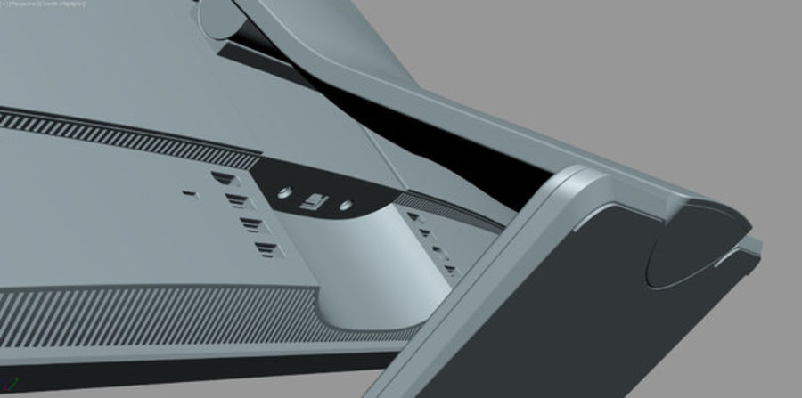 Dell Inspiron 27 7000 All-in-One-Set royalty-free 3d model - Preview no. 27