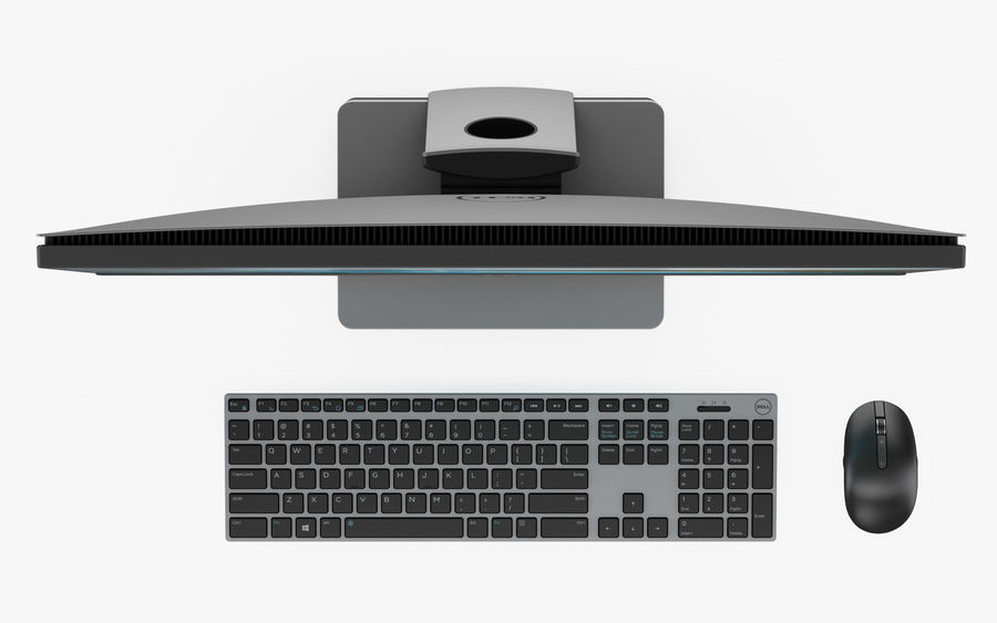 Dell Inspiron 27 7000 All-in-One-Set royalty-free 3d model - Preview no. 6