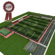футбольное теннисное поле 3d model