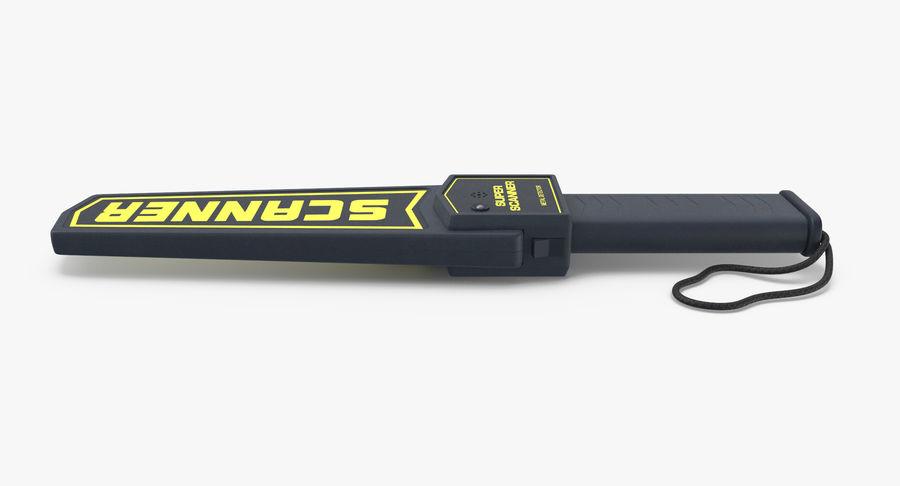 Metaaldetector Handheld en Full Body royalty-free 3d model - Preview no. 11