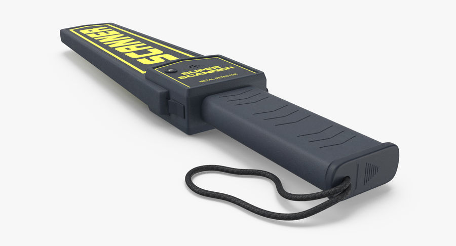 Metaaldetector Handheld en Full Body royalty-free 3d model - Preview no. 15