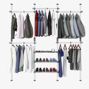 Manlig garderob med tillbehör 3d model