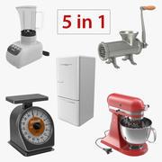 レトロなキッチン家電3Dモデルコレクション 3d model