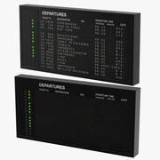 Oud informatiebord 3d model