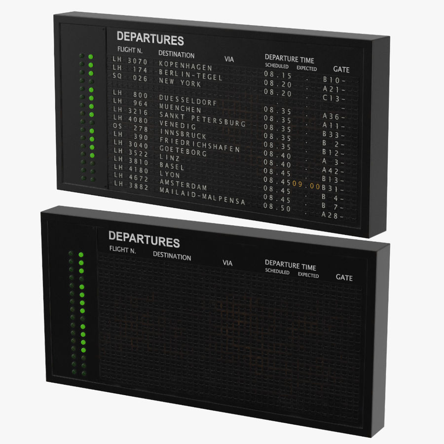 Oud informatiebord royalty-free 3d model - Preview no. 1