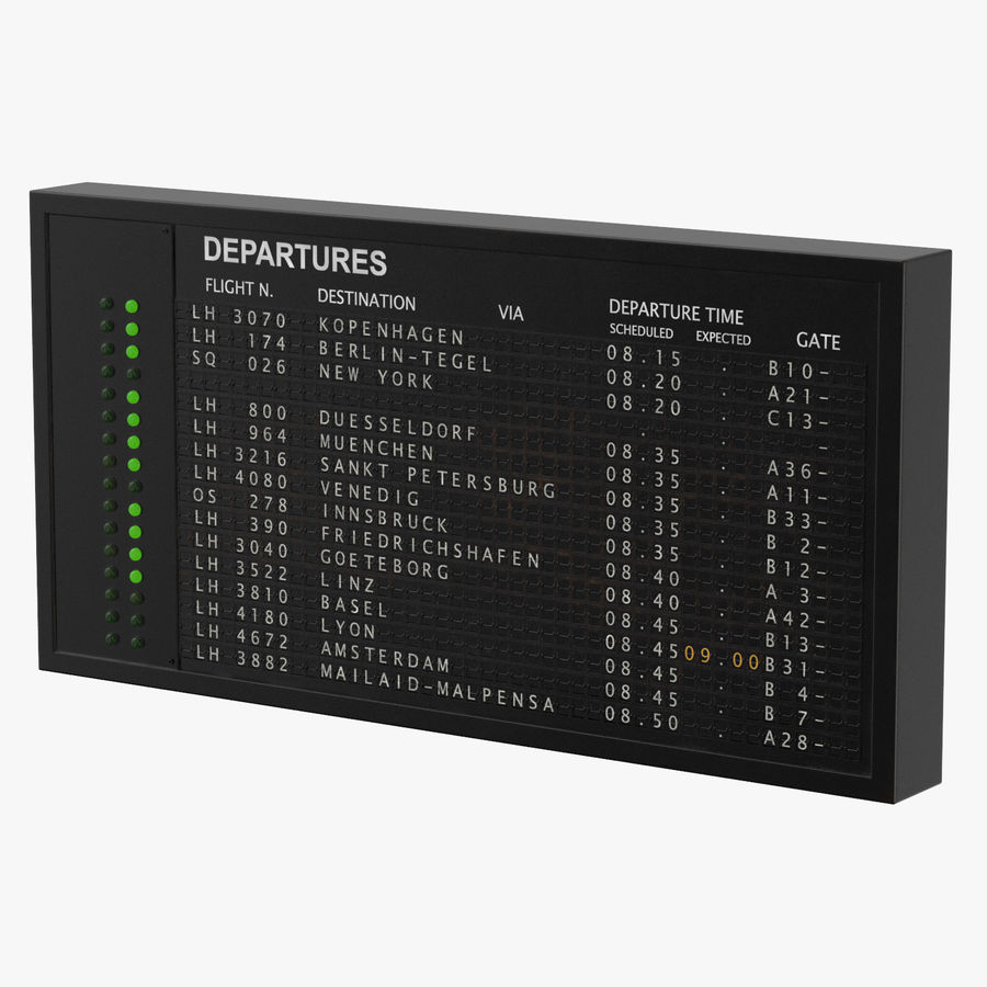 Oud informatiebord royalty-free 3d model - Preview no. 2