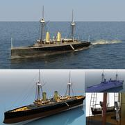 Navio de guerra ACM Esmeralda 3d model