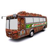 Pakistansk buss 3d model