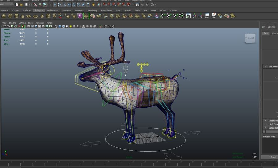 Rentier manipuliert animiert royalty-free 3d model - Preview no. 20