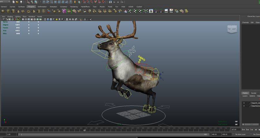 Rentier manipuliert animiert royalty-free 3d model - Preview no. 21