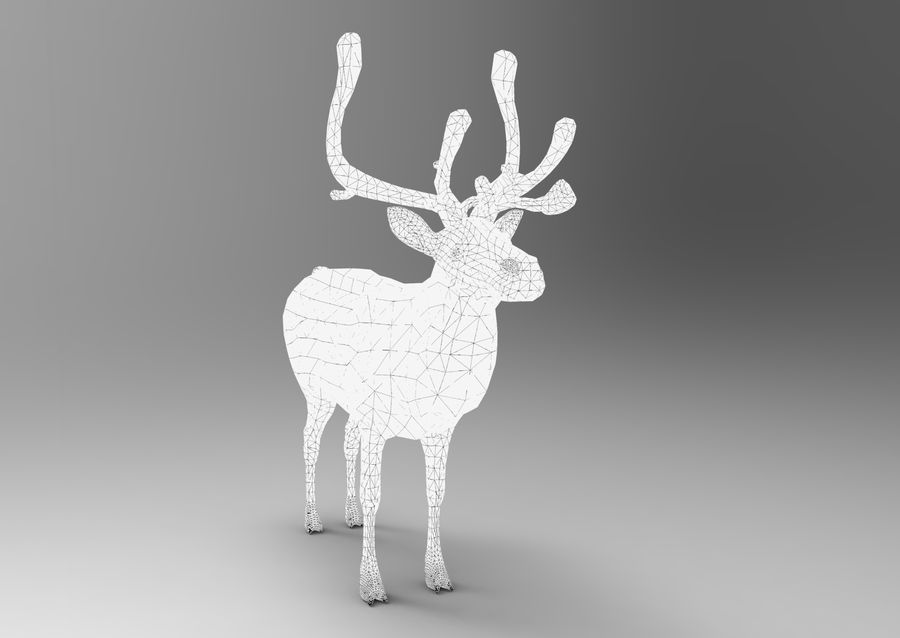 Rentier manipuliert animiert royalty-free 3d model - Preview no. 14