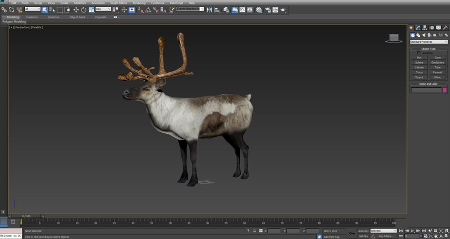Rentier manipuliert animiert royalty-free 3d model - Preview no. 22